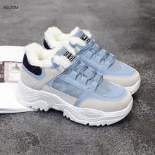 Shoes women Winter Warm Platform Woman Snow Boots Plush Female Casual Sneakers Faux Suede Snowboots z250