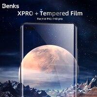 Benks xpro borda curvada proteção de tela cheia para huawei p40 vpro capa completa protetora 0.3mm filme vidro temperado para hw p40 pro