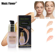 Music Flower Foundation Moisturizing Concealer Makeup Nude Cream Full Cover Facial Base