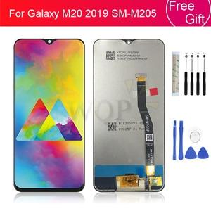 """Image 1 - Dành Cho Samsung Galaxy Samsung Galaxy M20 2019 SM M205 M205F Màn Hình Hiển Thị LCD Bộ Số Hóa Cảm Ứng Thay Thế 100% Được Kiểm Tra M20 Màn Hình Hiển Thị 6.3"""""""