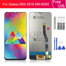 """For Samsung Galaxy M20 2019 SM M205 M205F LCD Display Touch Screen Digitizer Assembly Replacement 100% Tested m20 display 6.3"""""""