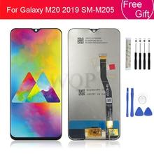 """شاشة LCD لسامسونج غالاكسي M20 2019 SM M205 M205F شاشة تعمل باللمس محول الأرقام الجمعية استبدال 100% اختبار m20 عرض 6.3"""""""