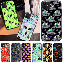 OFFeier Alien ghost DIY Luxury Phone Case For iPhone 5 6 6S 7 8 plus X XS XR XS MAX 11 11 pro 11 Pro Max offeier love and hope girl diy luxury phone case for iphone 5 6 6s 7 8 plus x xs xr xs max 11 11 pro 11 pro max