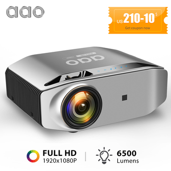 AAO YG620 1080P mini android projetor full hd portatil video projector android  smartphone pra celular movil  projetores de home cinema em casa beamer sem fio wifi 6500lumens sincronização sem fio wifi  filme jogos
