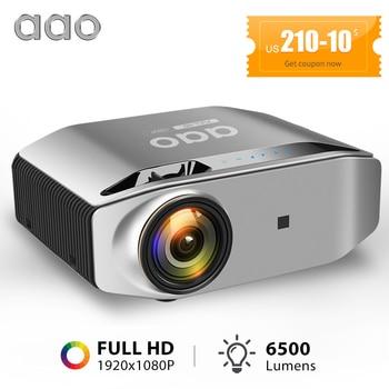 AAO nativa de 1080p Full HD Proyector YG620 Proyector de LED 1920 x 1080P 3D Vídeo Proyector portátil YG621 inalámbrico Compatible con PS4, PC a través de HDMI, VGA, , AV y USB WiFi Multi-pantalla Beamer cine en casa