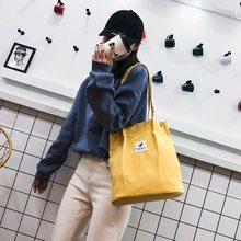 Bags for Women Corduroy Shoulder Bag Reusable Shopping Bags Casual Tote Female Handbag for A Certain Number of Dropshipping