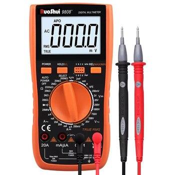 Мультиметр RuoShui 9808 + Высокоточный цифровой емкость 2000 мкФ 10 МГц частота измерения температуры и индуктивности с LCR