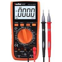 Multímetro ruoshui 9808 + medidor de alta precisão digital 2000 uf meter 10 mhz freqüência temperatura e indutância medição com lcr|Multímetros| |  -
