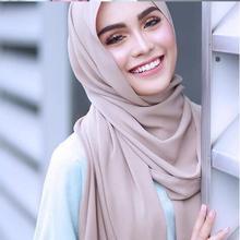 M2 10 шт Горячая простой пузырь шифон Хиджаб Шарф Шаль Обертывание леди оголовье женский шарф/шарфы 180*75 см