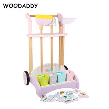 New Arrival Simulation Baby Cleaning Kit Wooden Toys For Kids Children Cleaning Set Housework Toys  Educational Preschool Gift