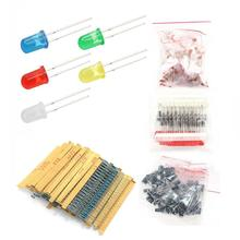 Electronic Components Kits Resistor LED diodes Electrolytic Capacitor Ceramic ki
