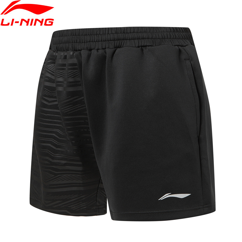 (Break Code)Li-Ning Men Badminton Competition Shorts 87% Polyester 13% Spandex Regular Fit LiNing Li Ning Shorts AAPP323 MKD1660