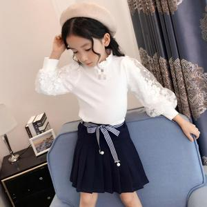 Image 3 - 2019 בנות חולצה סתיו בגדי ילדים עבור בנות 5 6 7 8 9 10 11 12 Y תחרה לבן חולצות בית ספר אחיד גדול בנות צמרות חולצה Fille