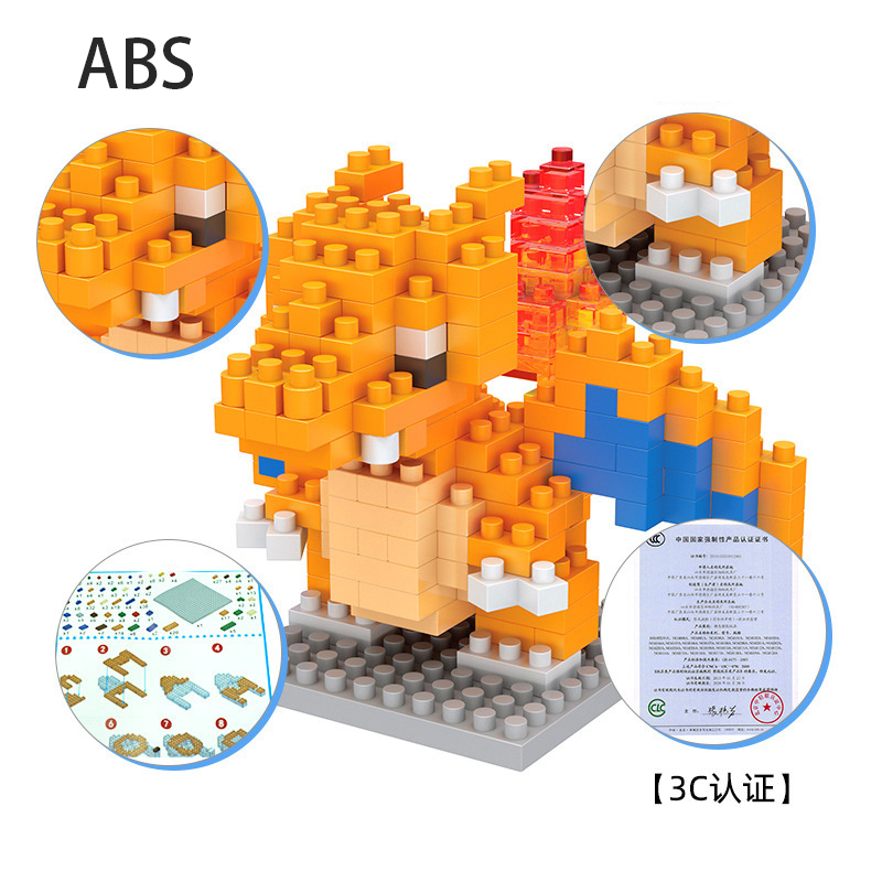 POKEMON Mini Blocks Small Building Block Compatible Gengar Onix Ho-Oh Caterpie Building Block Construction Toys Blocks 4