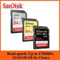 SanDisk extrême Pro carte SD carte mémoire SDHC/SDXC carte SD 32GB 64GB 128GB Class10 U1 U3 4K 16gb carte mémoire Flash pour appareil photo