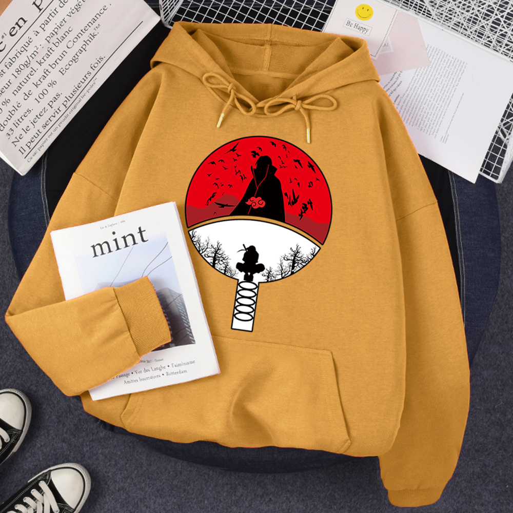 Hoodie For Women Manga Print Street Fashion Loose Tracksuits Anime Wear Vintage Crewneck Wears Pattern Fleece Hoody Female Tops 10
