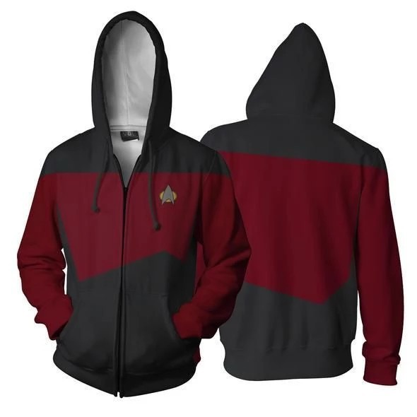 New Style Star Trek 3D Printed Zipper Cardigan Hooded Sports Cospaly Related Products Hoodie Coat Hoodie