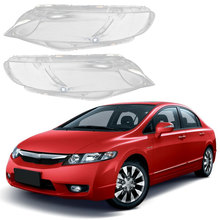 цена на Front Headlamps Transparent Lampshades Lamp Shell Masks Front Left Headlights Lens Cover For Honda Civic 2006-2011
