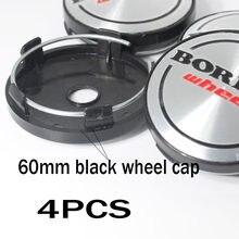 4 pçs 60mmfor logotipo do carro borbet roda centro tampa aro emblema reequipamento cobre decoração criativa emblema adesivo estilo