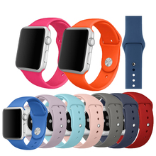 цена на Silicone Sport Strap For Apple Watch band 5 38mm 42mm iWatch 4 band 44mm 40mm belt Bracelet correa Apple watch 5 4 3 2 1 Accesso