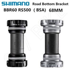 Shimano ULTEGRA 105 TIAGRA SORA SM-BBR60 RS500 Hollowtech II Road Bicycles Bottom Bracket 68mm BBR60 ROAD BIKE Bottom Bracke(China)