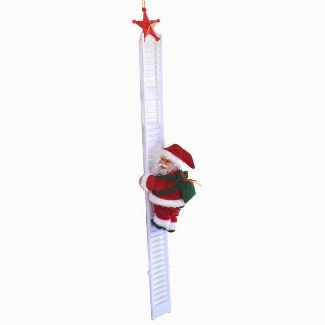 Фото электрический санта клаус лестница для альпинизма кукла украшение
