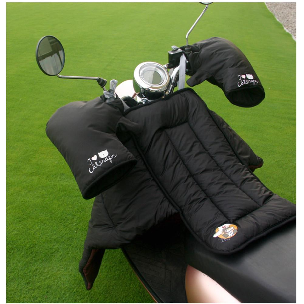 Scooters Leg Cover Knee Blanket Warmer Waterproof Windproof Motorcycle Winter Quilt With Motorcycle Gloves