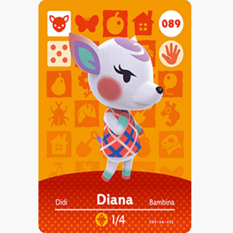 089 Diana Animal Crossing Card Animal Crossing Figures SwitchNS 3DS Amiibo Cards Villager New Horizons Amiibo Card Gift
