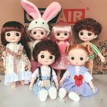 16cm ondulação sorriso bjd boneca 13 moveable joint dolls bonito rosto redondo bjd brinquedo menina vestir compõem brinquedo para meninas presente bonecas
