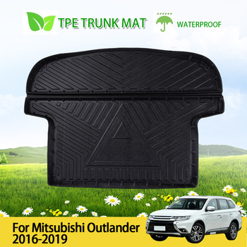 High Quality Car Rear Boot Cargo Liner Trunk Floor Mat Waterproof Rubber Protector For Mitsubishi Outlander 2016-2019 image