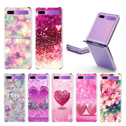Caso de prueba para Samsung Galaxy Z Flip duro claro Plistic teléfono Coque plegable dividida cubierta de concha de moda