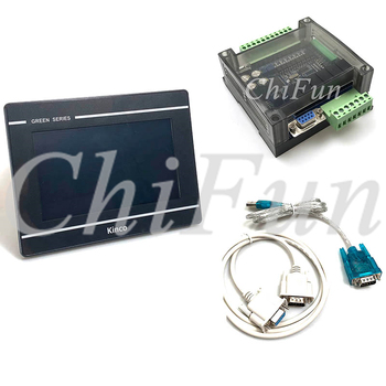 Kinco GL070 HMI Touch Screen + FX3U 14/24/32/48/56 MT/MR PLC Industrial Control Board With Communication & Download cable 1