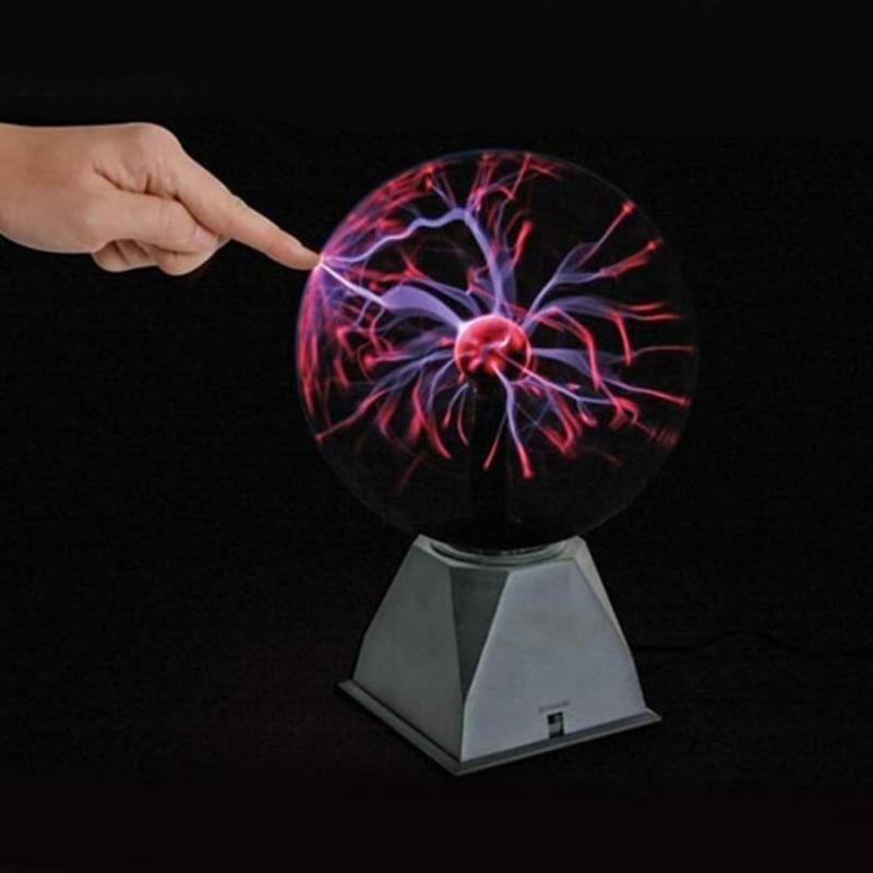 Touching Sensor Magic Plasma Ball Vocie Control Crystal Lamp Creative Light Graduation Kid Birthday Decor Gift Night Lighting