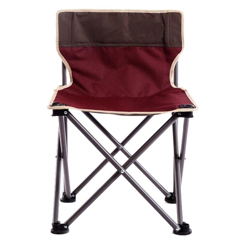 Spor ve Eğlence'ten Balıkçılık Sandalyeleri'de Açık taşınabilir eğlence katlanır sandalye kalın alüminyum balıkçılık sandalye kamp plaj barbekü sandalye kendinden sürüş koltuğu title=