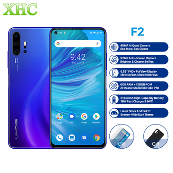 Global UMIDIGI F2 Android 10 Smartphone 6GB 128GB Octa Core 48MP 32MP Cam Dual SIM LTE 4G Mobile Phone 6.53inch Fingerprint NFC