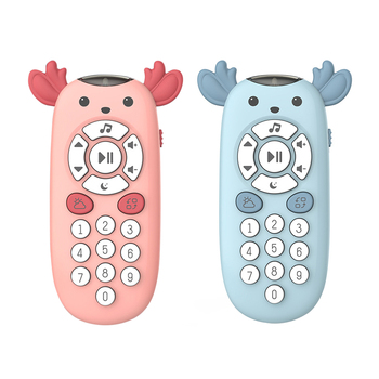 6inch Cartoon Music Phone Baby Toys Kids Music Remote Control Early Educational Numbers Remote Learning  Toys Mobile Telephone 1