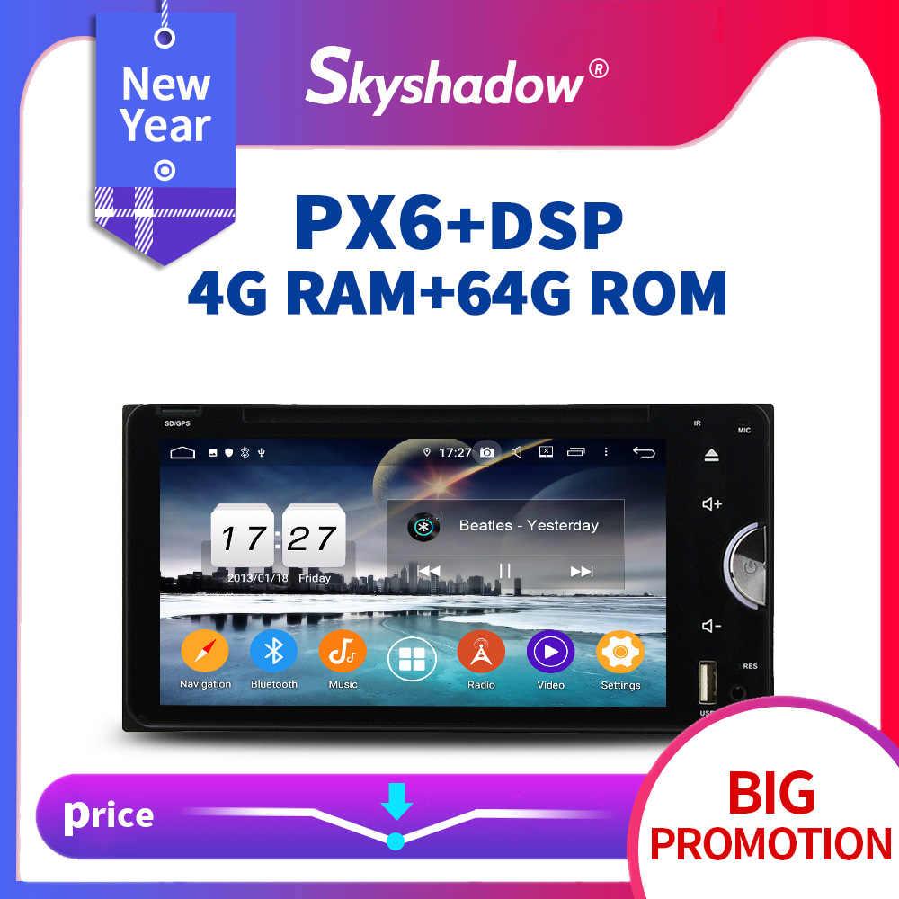 PX6 車 DVD プレーヤー DSP アンドロイド 9.0 64 グラム + 4 グラム Wifi ラジオ GPS マップ Bluetooth 5 トヨタセコイアカローラ Vios ハイラックスプラ