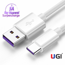 UGI 5A Super Fast Charger USB C Cable for Huawei P30 P20 Lite Xiaomi Mi 9 8 Quick Charge 3.0 Type C Charging for Samsung S10 9 baseus car charger quick charge 4 0 3 0 qc4 0 qc 3 0 scp 5a usb type c pd fast charging for iphone xiaomi mi 9 8 huawei p30 pro