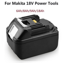18 V 6 Ah 8Ah 9Ah 18Ah BL1830 충전식 리튬 배터리 Makita BL1830B BL1820 BL1860 교체 용 배터리 전동 공구