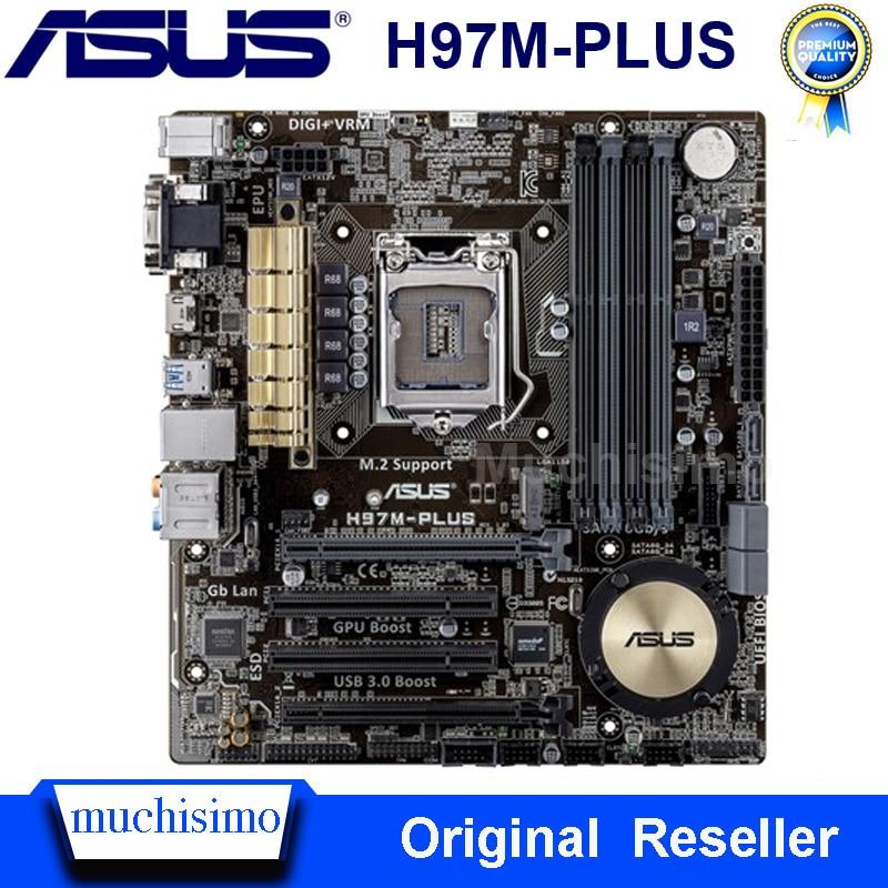 ASUS H97M-PLUS Desktop Motherboard DDR3 LGA 1150 Motherboard Solid-state Integrated USB3,0 SATA3 PCI-E 3.0 H97M-PLUS Mainboard