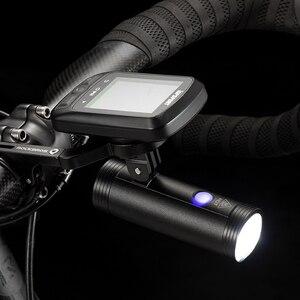 Image 4 - ROCKBROS Bicycle Light Bicycle USB Rechargeable Light  MTB Bike Light Power Bank  Flashlight Waterproof  Bicycle Headlight