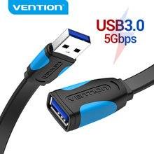 USB firmy Vention na USB kabel USB 3.0 2.0 rozszerzenie męskie i żeńskie kabel USB 3.0 przewód danych dla Smart TV PC SSD USB 2.0 przedłużacz do przewodów