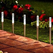 5/8 шт. пузырь солнечная трубка огни рампы садовый светильник свет на открытом воздухе акрил фонарь на солнечных батареях для сада патио на заднем дворе путь