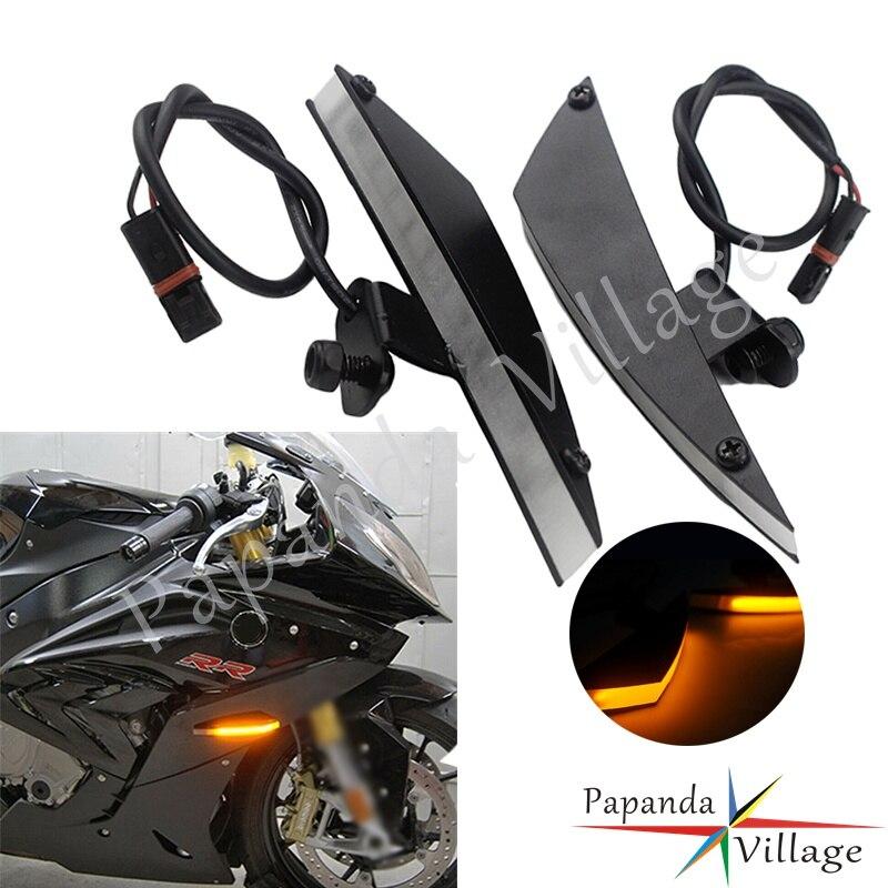 Clignotant clignotant ambre de clignotant LED avant de moto en aluminium pour BMW S1000RR 2009-présent HP4 2013 2014 Plug and Play