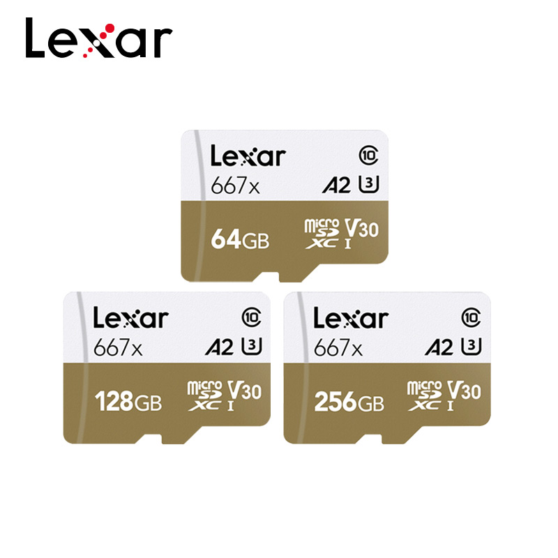 Lexar Micro-Sd-Card 667x Flash-Drive Smartphone 128GB 256GB 64GB for 100mb/S C10 title=