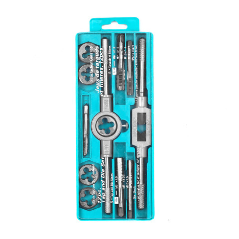Multi-Use System Tap And Die Combo Hand Tap Wrench Die Setter Set Suit Tapping Threading Tool Fast Tapping Speed Fine Thread