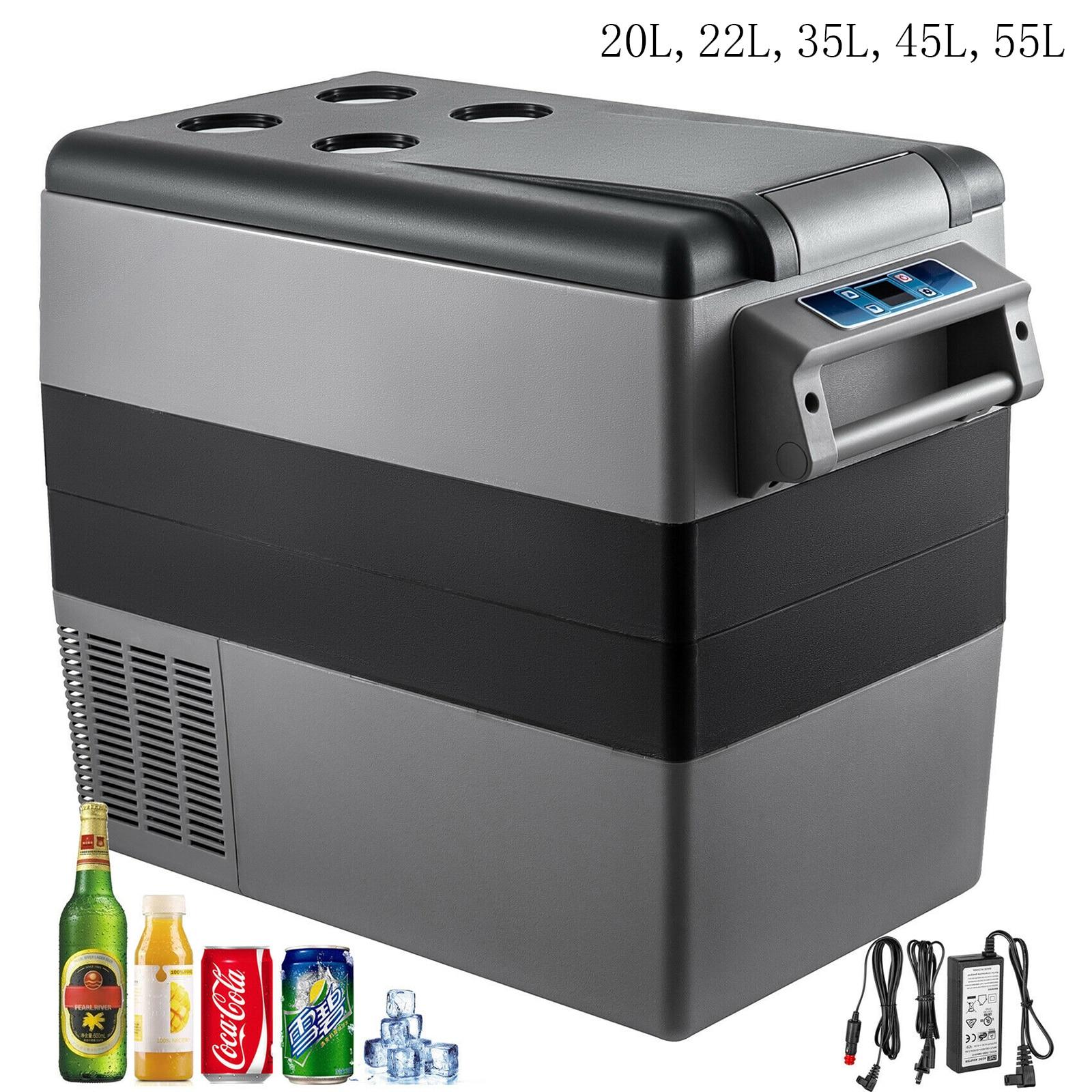 VEVOR 20L 22L 35L 45L 55L маленький автомобиль холодильник 12/24V DC 110-240V AC Портативный мини холодильники компрессора морозильных камер охладитель воздуха для дома 1