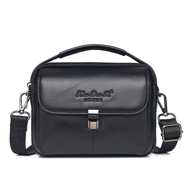 XiaoDuoLi Genuine Leather Casual Top-handle Handbag Men's Crossbody Shoulder Bag Men Messenger Bags Cell Phone Waist Belt Pack