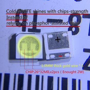 100 шт. для LG Innotek светодиодный, новый и оригинальный светодиодный, 2 Вт, 6 в, 3535, холодный белый, ЖК-подсветка для ТВ-приложения