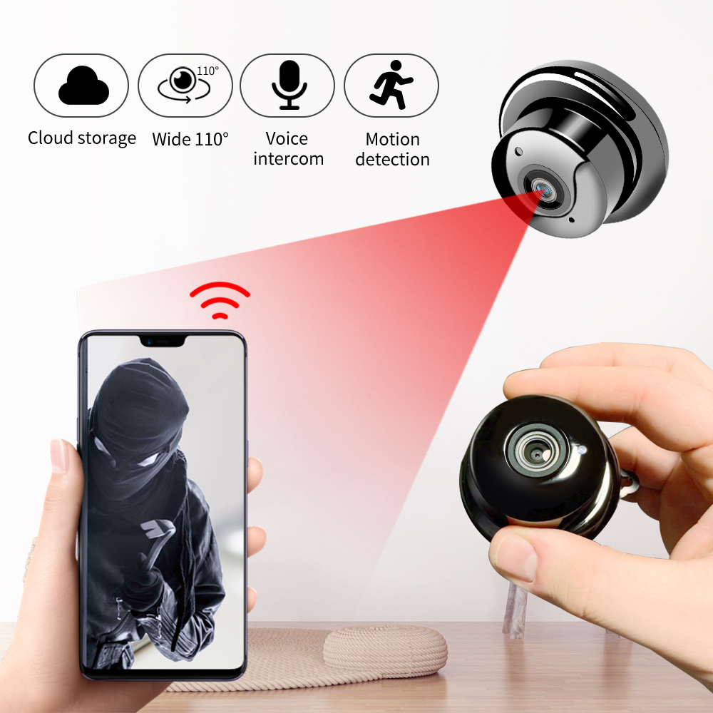 SDETER 1080P Wireless Mini WiFi Camera Home Security Camera IP CCTV Surveillance IR Night Vision Motion Detect Baby Monitor P2P